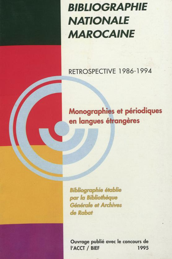 Bibliographie nationale : 1986-1994