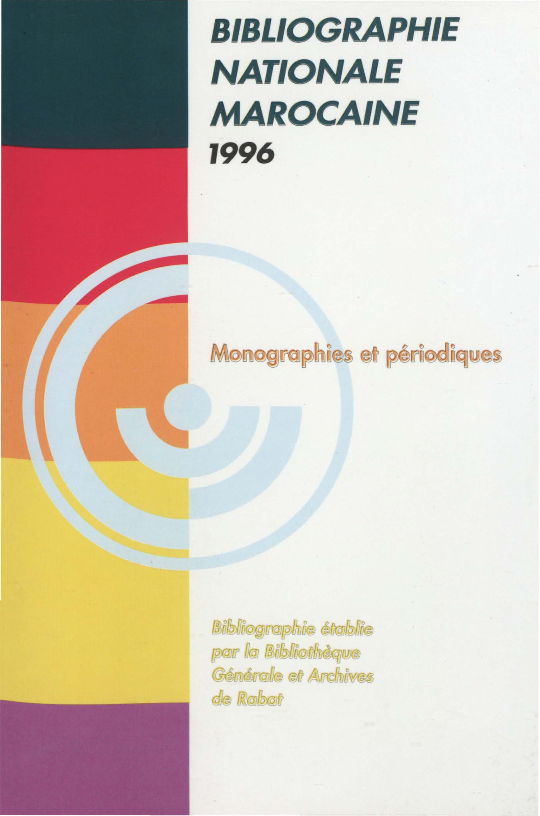 Bibliographie nationale : 1996