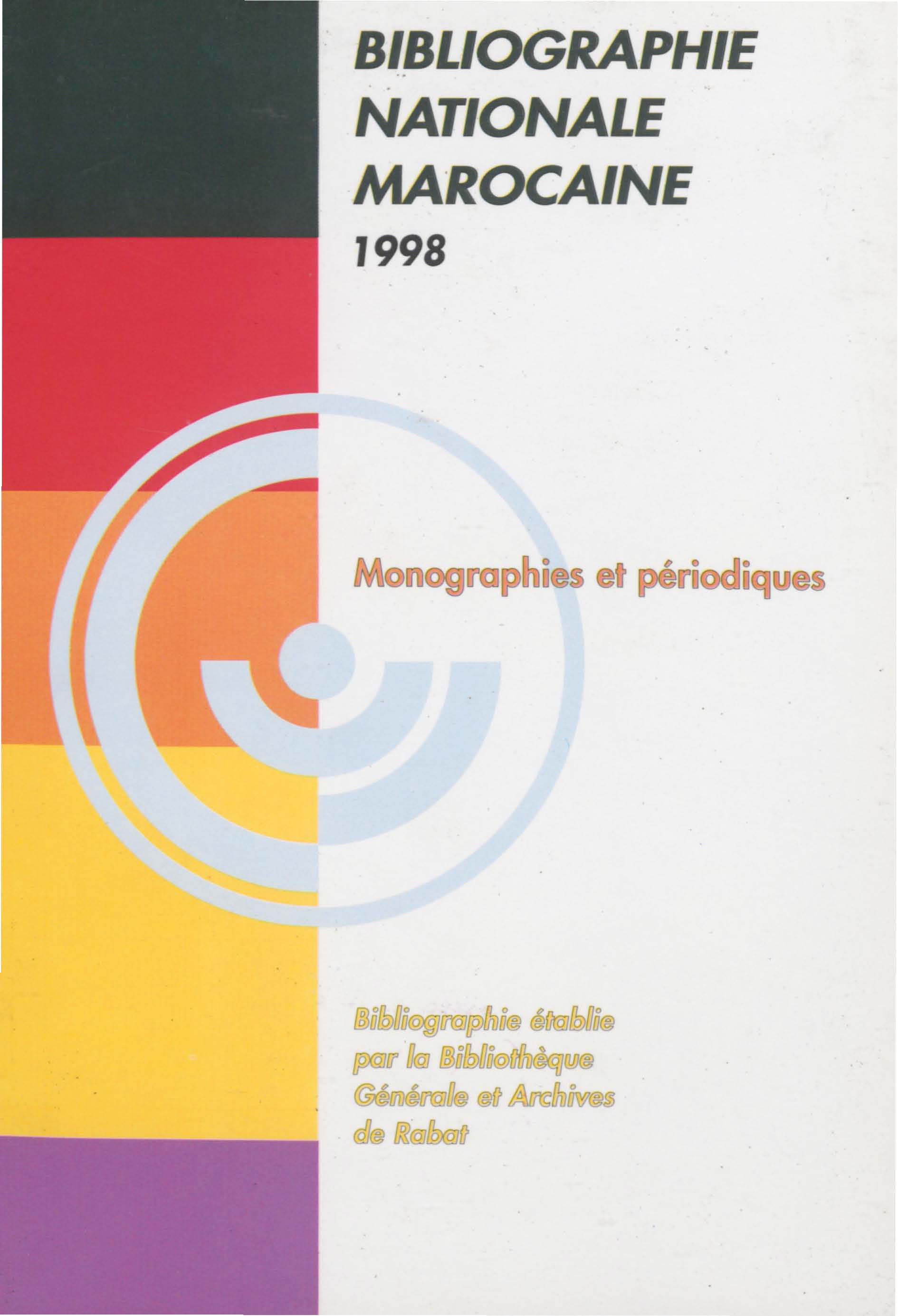 Bibliographie nationale : 1998
