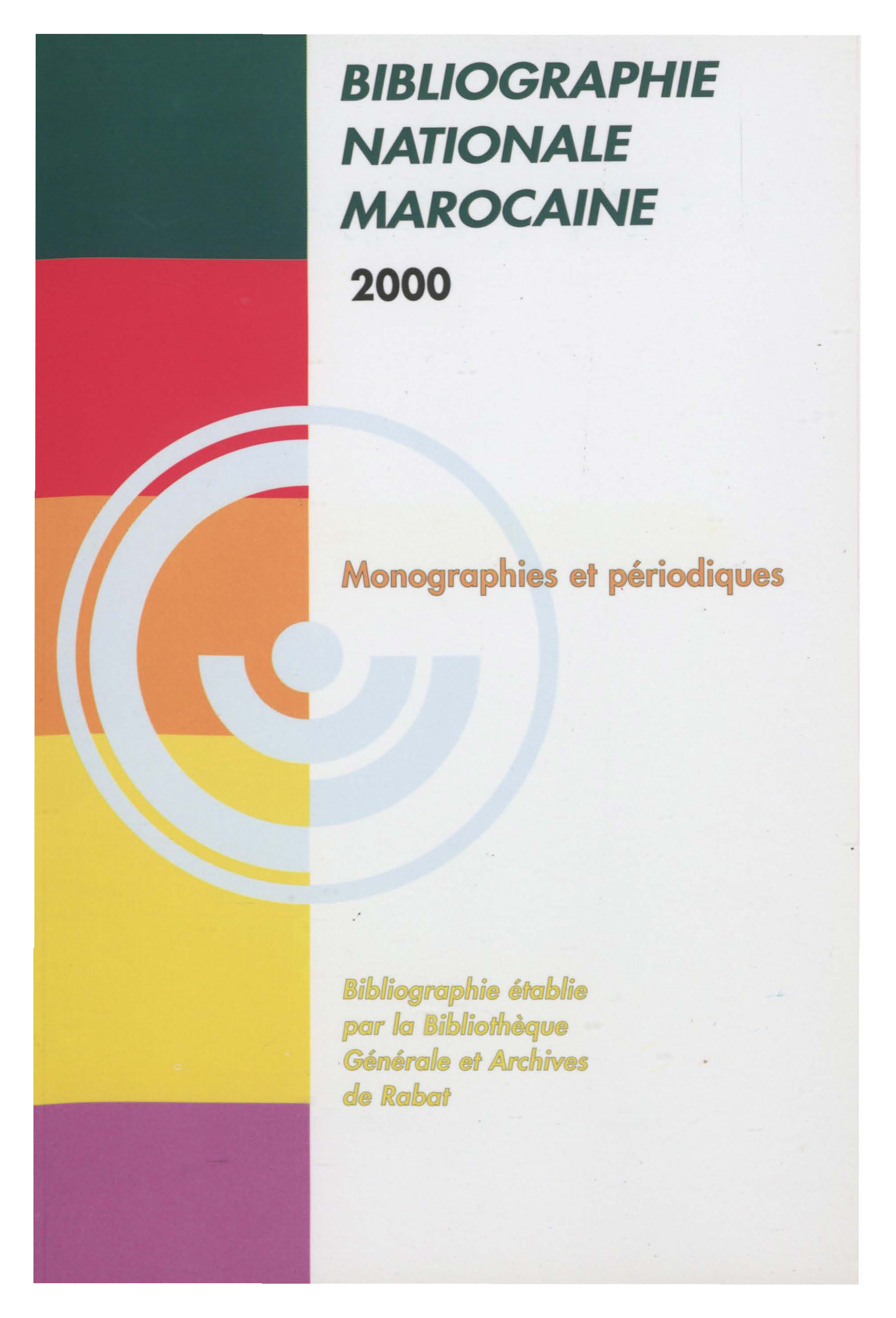 Bibliographie nationale : 2000